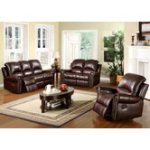Sedona Reclining Italian Leather Sofa and Chair Set