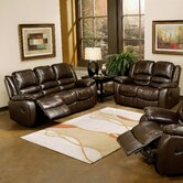 Providence Leather Sofa and Loveseat Set