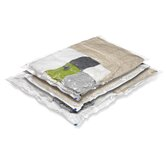 Three Pack Vacuum Pack Super Storage Combo Storage Bag in Clear
