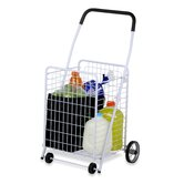 Four Wheel Rolling Utility Cart in White