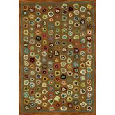 Hooked Cats Paw Brown Micro Rug