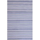 Rugby Denim Striped Rug