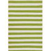 Trimaran Sprout/Ivory Striped Rug