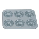 Non-Stick 6 Cup Fluted Muffin Pan with Center Tube