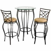 Three Piece Pub Table Set in Galaxy Bronze
