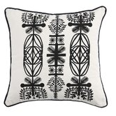 Screen Print Branches Pillow in Ivory