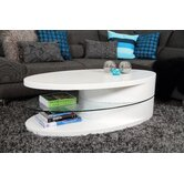 Shove Coffee Table in High Gloss White