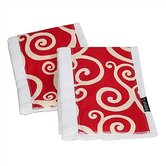 Crimson Craze Burp Cloth Set