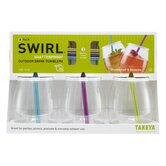 16 Oz Swirl with Straw Tumblers (Set of 3)