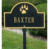 Pet Paw Mini Arch One Line Lawn Marker in Antique Copper