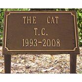 Slate Pet Memorial Three Line Lawn Plaque