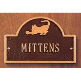 Pet Cat Mini Arch One Line Wall Marker