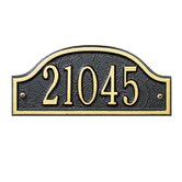 Admiral Petite Wall Address Plaque