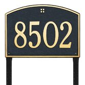 Cape Charles Estate Lawn Address Plaque