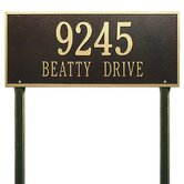 Hartford Estate Lawn Address Plaque