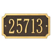 Cut Corner Standard Wall Address Plaque