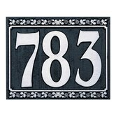 Dresden Three Number Wall Plaque