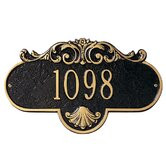 Rochelle Standard  Wall Address Plaque