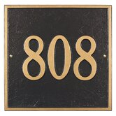 Square Standard Wall Address Plaque