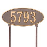 Madison Standard Lawn Address Plaque
