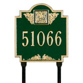 Monogram Standard Lawn Address Plaque