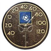 Blue Dard Hunter Rose Thermometer In French Bronze