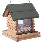 2.75 Lb Capacity Hanging Log Cabin Bird Feeder