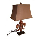"28.75"" Tall Table Lamp with Shade in Antique Bronze"