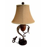 "34"" Tall Table Lamp with Shade in Tuscan Bronze"