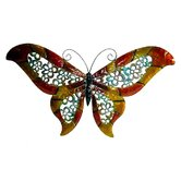 "21"" Wide Butterfly Wall Art in Multicolor"