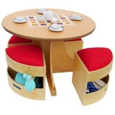 Kids' 5 Piece Table and Stools Set