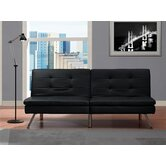 Chelsea Leather Convertible Futon