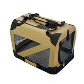Zippered 360&deg; Vista View Pet Carrier in Khaki