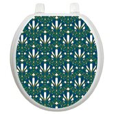 Classic Toilet Seat Applique with Peacock Feathers Design