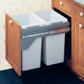 Drawer Slide-Out Double Waste Bin - 80 Liter