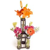 Two Level Triple Tube Vase
