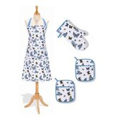 4 Pieces Butterflies Kitchen Linen Set