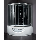 Platinum Sliding Door Steam Shower with Tub