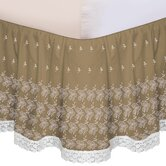 &quot;Hike Up Your Skirt&quot; Embroidered Bedskirt in Taupe
