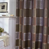 Resin Tiles Shower Curtain in Brown