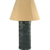 Outdoor  Table Lamp in Back Rattan