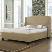 Oxford-X Wingback Platform Bed