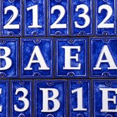 Ceramic Number Tiles