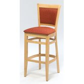 "Melissa Upholstered Back Wood Barstool (24"" - 31"" Seats)"