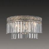 Clairemont Two Light Wall Sconce in Artisan Gold