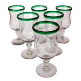 Javier and Efren Caribbean Pina Colada Glasses (Set of 6)