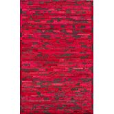 Hudson Chevron Red Rug