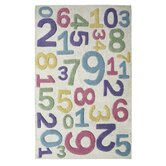 KinderLOOM Numericals White Kids Rug
