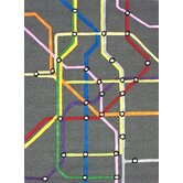 KinderLOOM Subway Multi Kids Rug