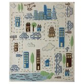 Kinder Ivory Cityscape Kids Rug